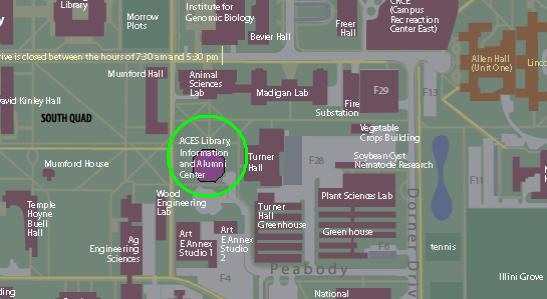 Campus map of LIAC
